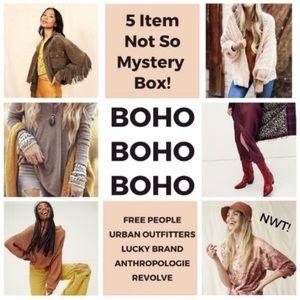 BOHO Mystery Box Anthropologie Free People Sweater